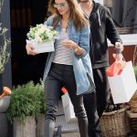 Alessandra Ambrosio Grabs Some Flowers for Easter with a Mystery Man in Los Angeles 03/31/2018-3