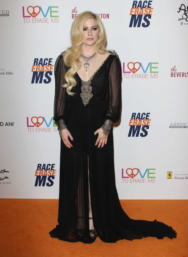 Avril Lavigne at the 25th Annual Race To Erase MS Gala in Beverly Hills 04/20/2018-1