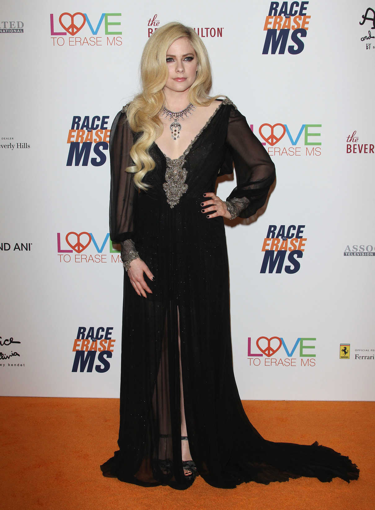Avril Lavigne at the 25th Annual Race To Erase MS Gala in Beverly Hills 04/20/2018-2