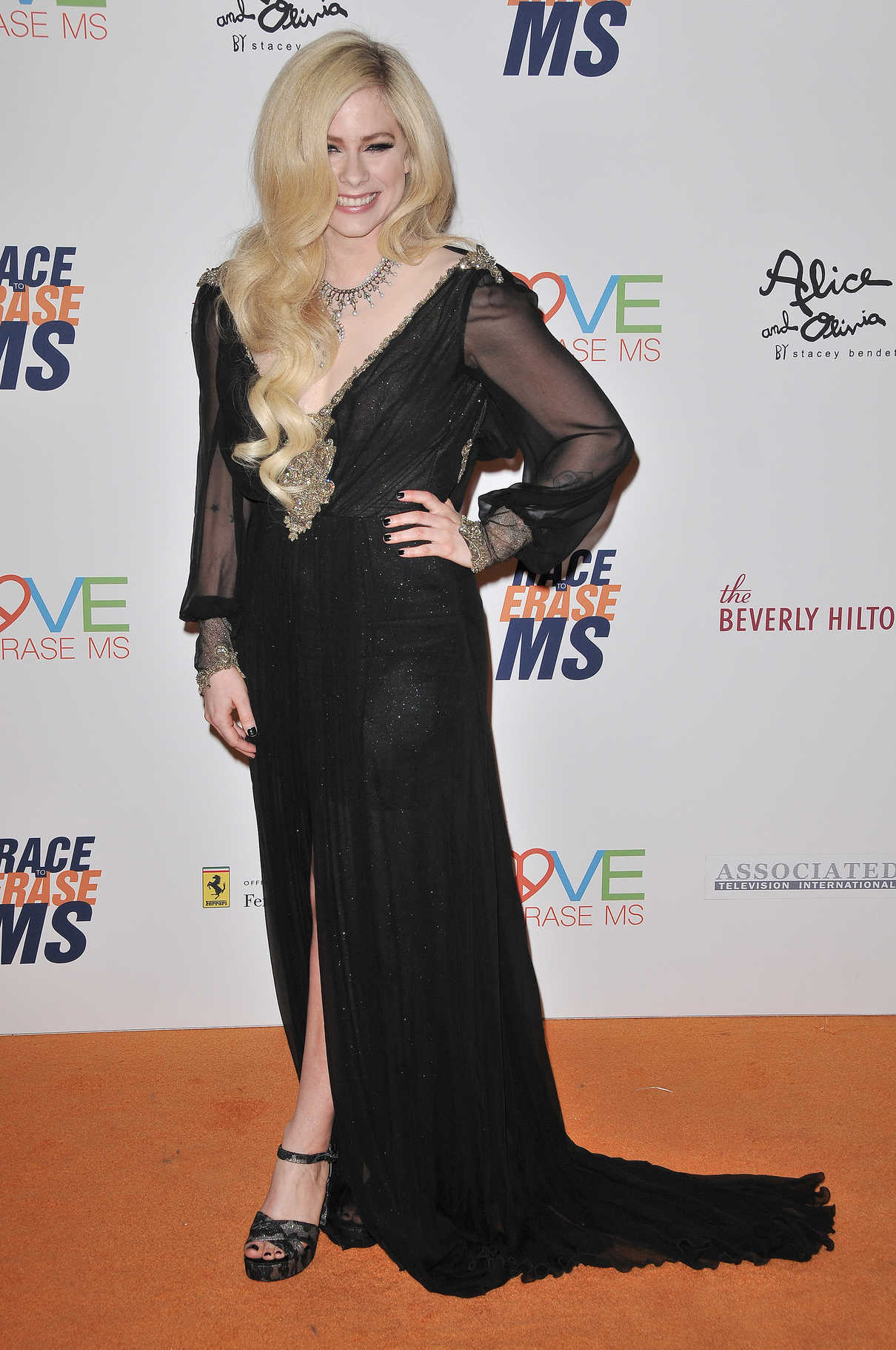 Avril Lavigne at the 25th Annual Race To Erase MS Gala in Beverly Hills 04/20/2018-3