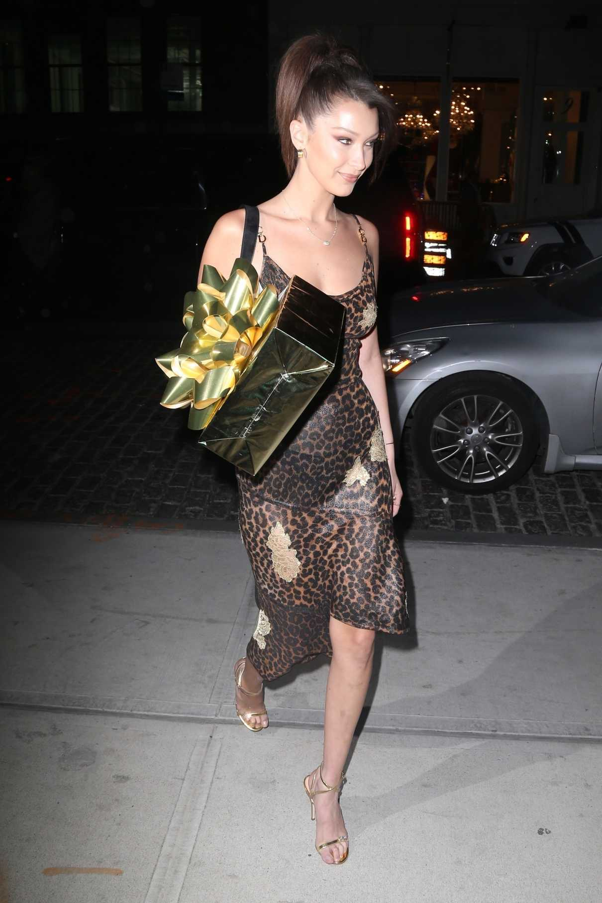 Bella Hadid Attends Gigi Hadid's Birthday Party at One Hotel in Brooklyn, New York 04/23/2018-4