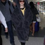 Camila Cabello Wears a Large Fur Coat at LAX Airport in Los Angeles 04/08/2018-2