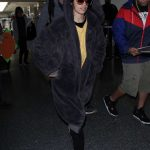 Camila Cabello Wears a Large Fur Coat at LAX Airport in Los Angeles 04/08/2018-3