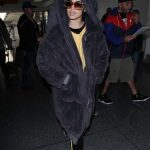 Camila Cabello Wears a Large Fur Coat at LAX Airport in Los Angeles 04/08/2018-4