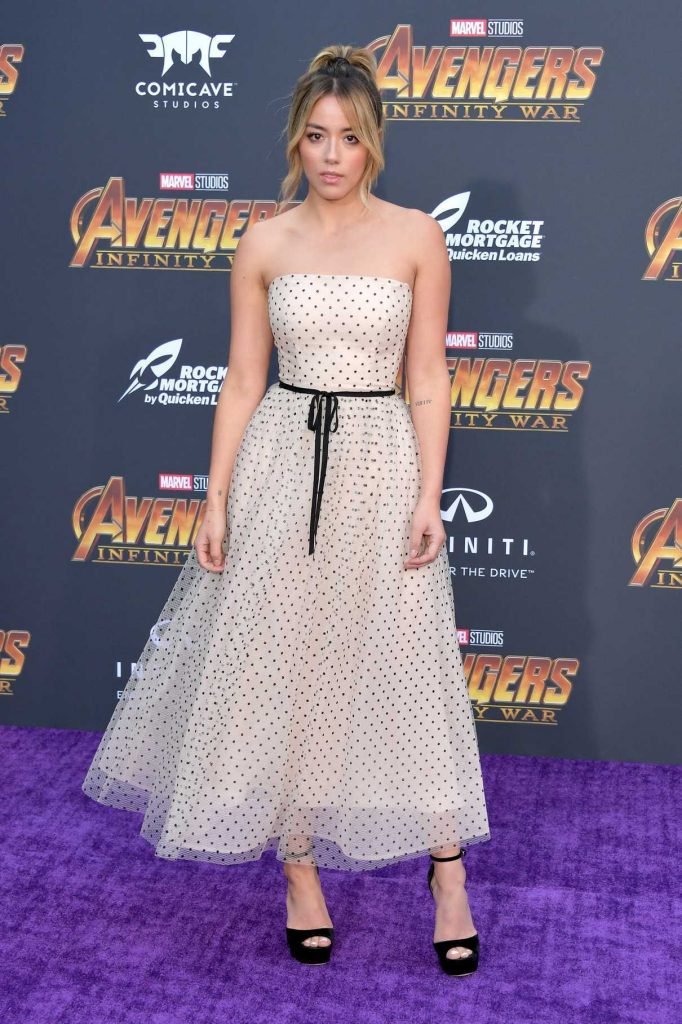 Chloe Bennet at Avengers: Infinity War Premiere in Los Angeles 04/23/2018-1