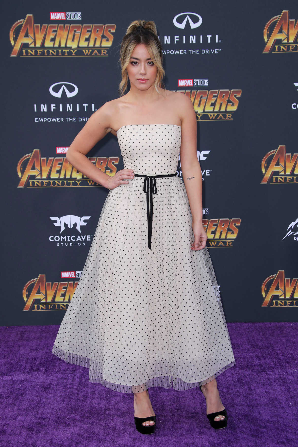 Chloe Bennet at Avengers: Infinity War Premiere in Los Angeles 04/23/2018-3