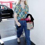 Elle Fanning Wears a Colorful Cat Patterned Shirt at LAX Airport in LA 04/20/2018-2