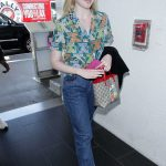 Elle Fanning Wears a Colorful Cat Patterned Shirt at LAX Airport in LA 04/20/2018-4