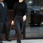 Gigi Hadid Wears All Black Out in NYC 04/11/2018-2