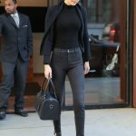 Gigi Hadid Wears All Black Out in NYC 04/11/2018-4