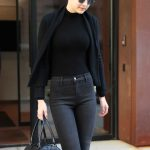 Gigi Hadid Wears All Black Out in NYC 04/11/2018-5