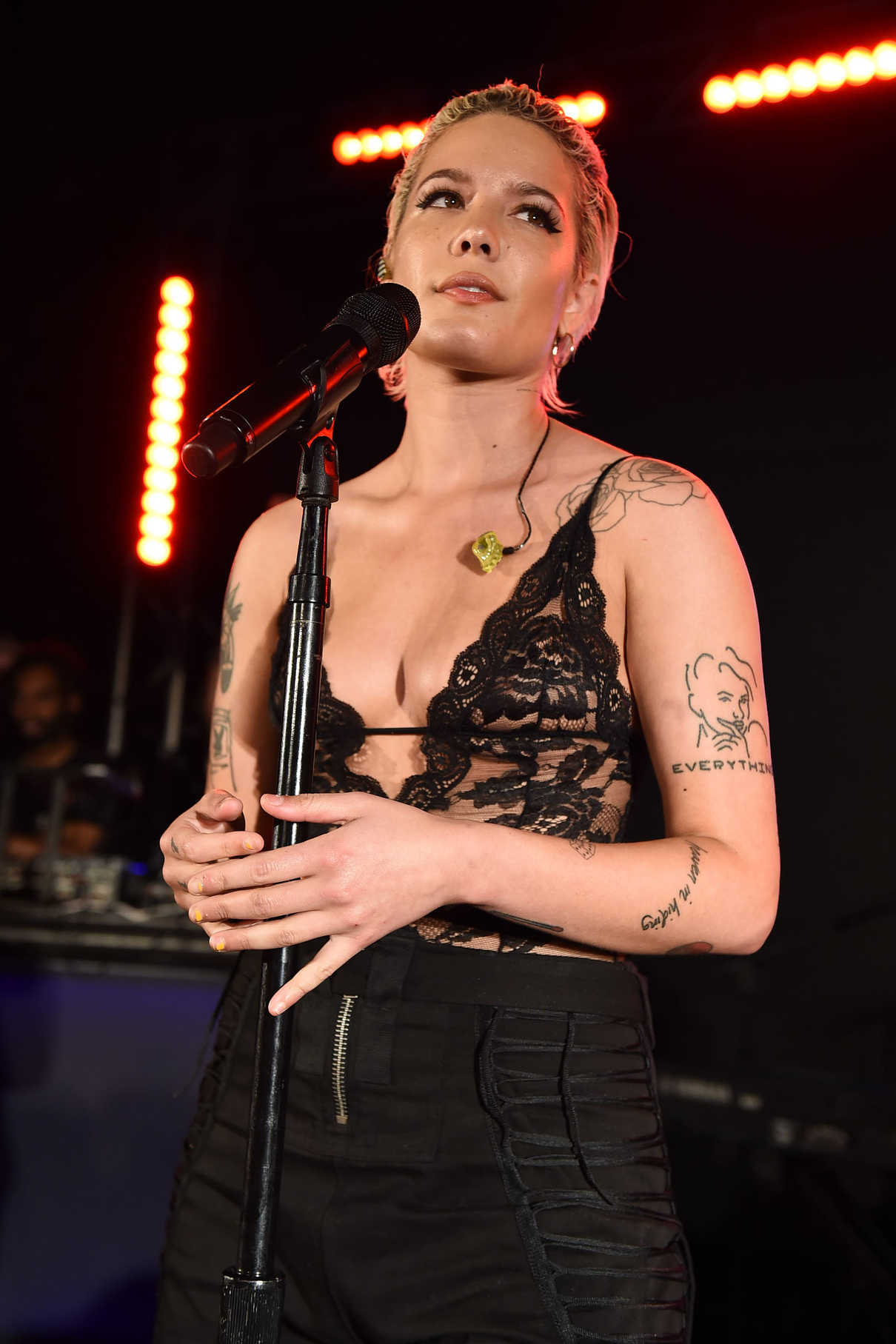 Halsey at YSL Beauty Festival in Palm Springs 04/12/2018-3