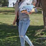 Jennifer Garner Arrives at Baseball Game in Brentwood 04/21/2018-3