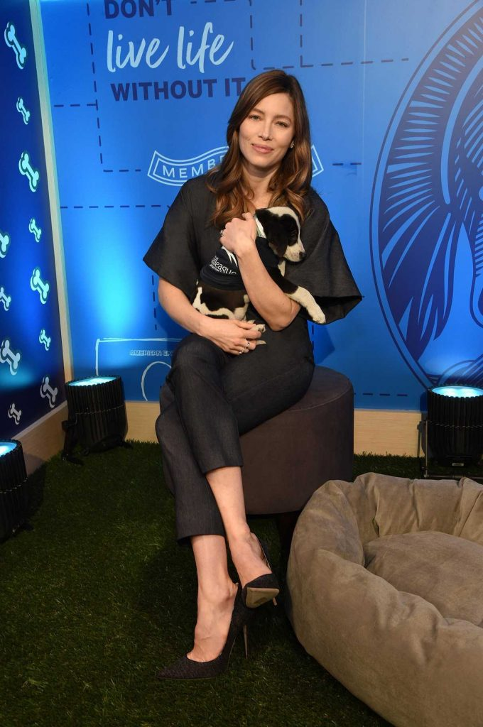 Jessica Biel at the American Express Experience in New York 04/09/2018-1