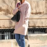 Katie Holmes Wears a Pink Pastel Coat Out in New York City 04/21/2018-5