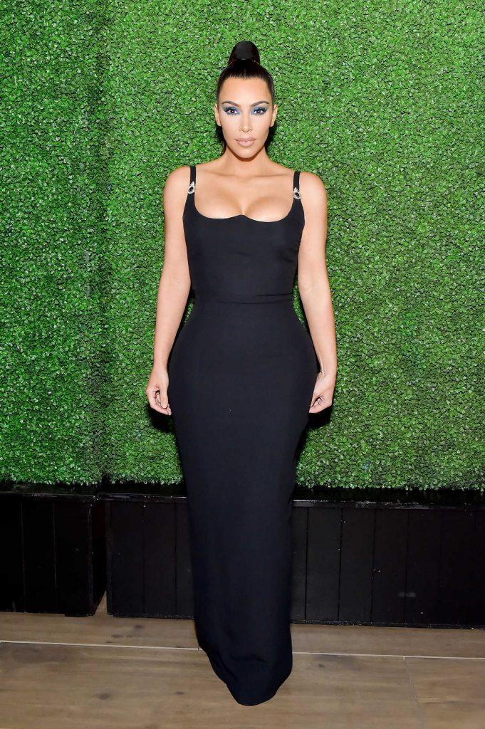 Kim Kardashian Attends KKWxMario Dinner in Beverly Hills 03/31/2018-1