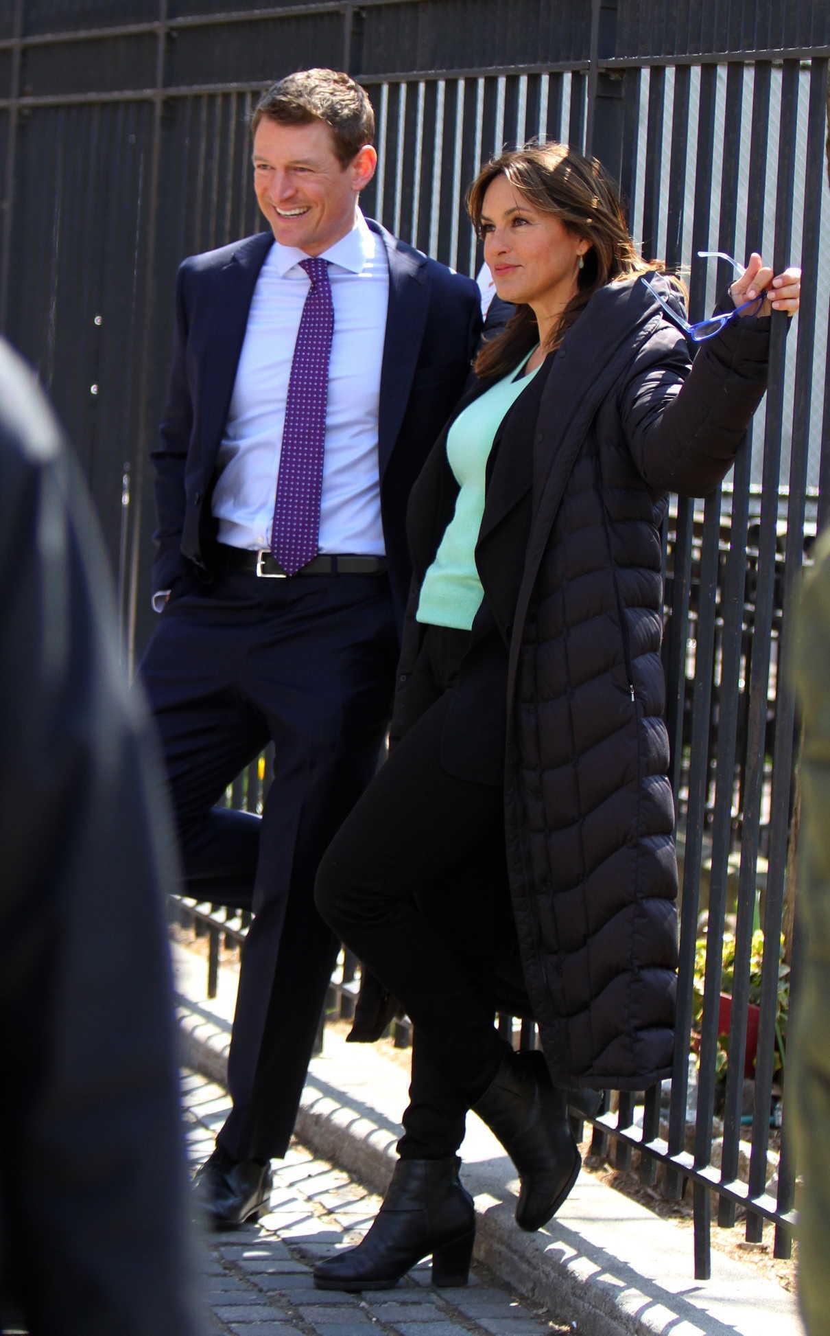 Mariska Hargitay on the Set of Law and Order: SVU in NYC 04/11/2018-5
