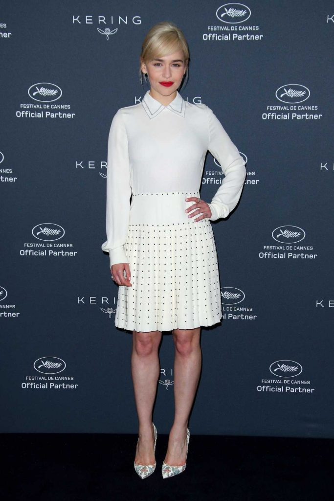 Emilia Clarke at the Kering Women in Motion Photocall During the 71st Cannes Film Festival in Cannes 05/15/2018-1