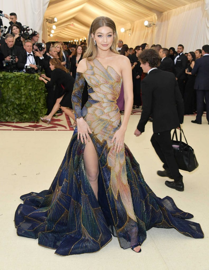 Gigi Hadid at the Heavenly Bodies: Fashion and The Catholic Imagination Costume Institute Gala in New York City 05/07/2018-1