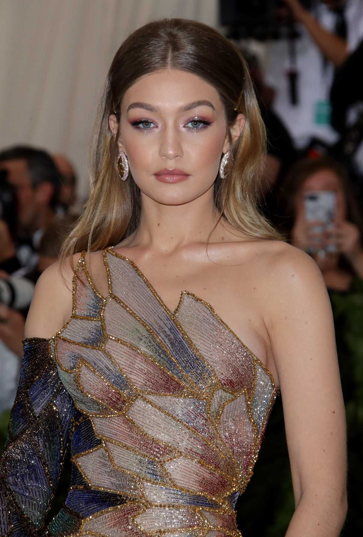 Gigi Hadid at the Heavenly Bodies: Fashion and The Catholic Imagination Costume Institute Gala in New York City 05/07/2018-5