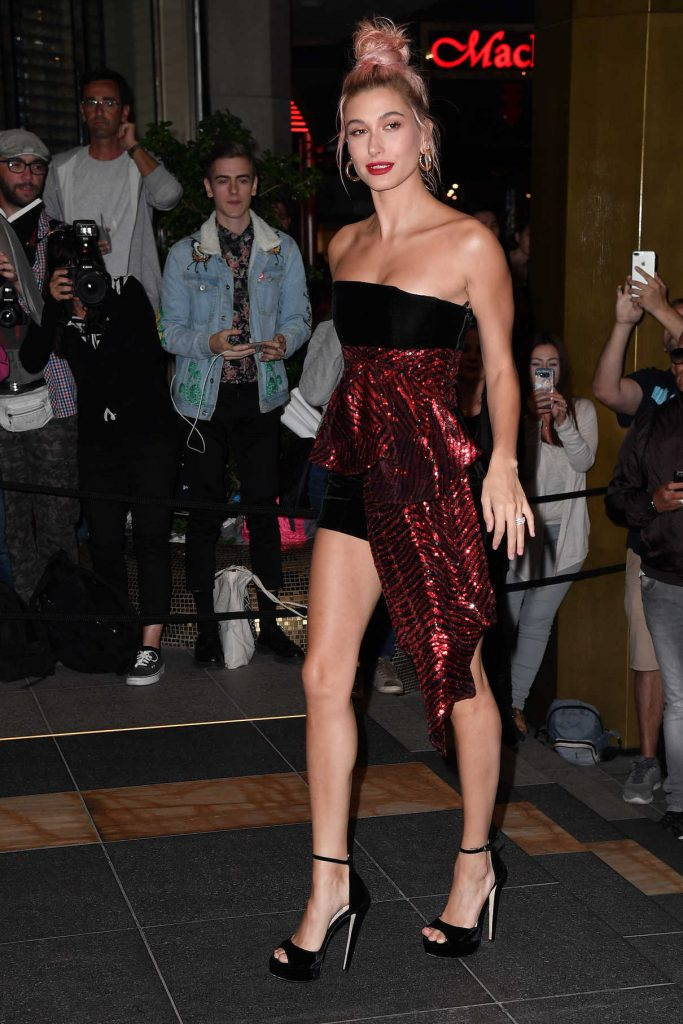 Hailey Baldwin Arrives for the Dior Dinner at JW Marriott in Cannes 05/12/2018-1