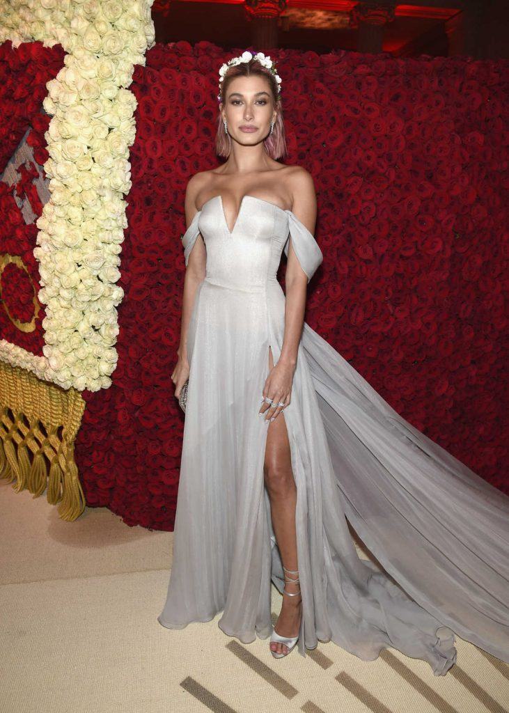 Hailey Baldwin at the Heavenly Bodies: Fashion and The Catholic Imagination Costume Institute Gala in New York City 05/07/2018-1