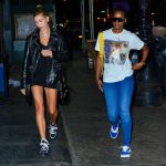 Hailey Baldwin Was Spotted out with Justine Skye in Soho, New York City 05/03/2018-4