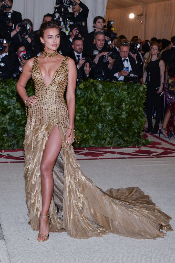 Irina Shayk at the Heavenly Bodies: Fashion and The Catholic Imagination Costume Institute Gala in New York City 05/07/2018-1