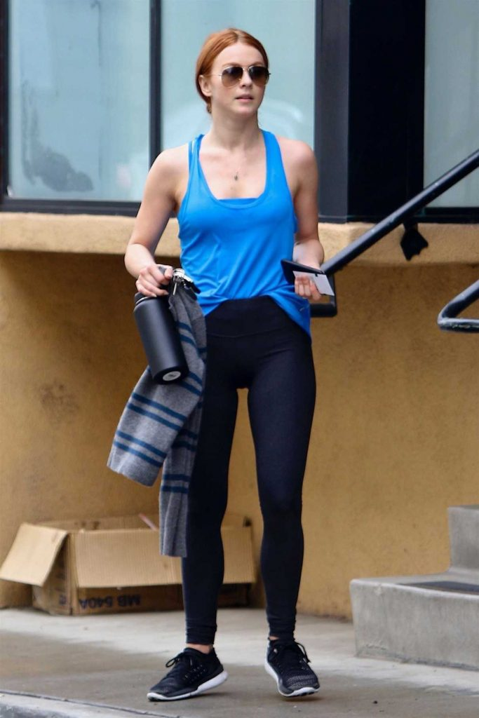 Julianne Hough Leaves Her Morning Workout in Studio City 05/01/2018-1