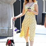 Kate Mara Walks Her Dog Lucius in New York City 05/15/2018-2