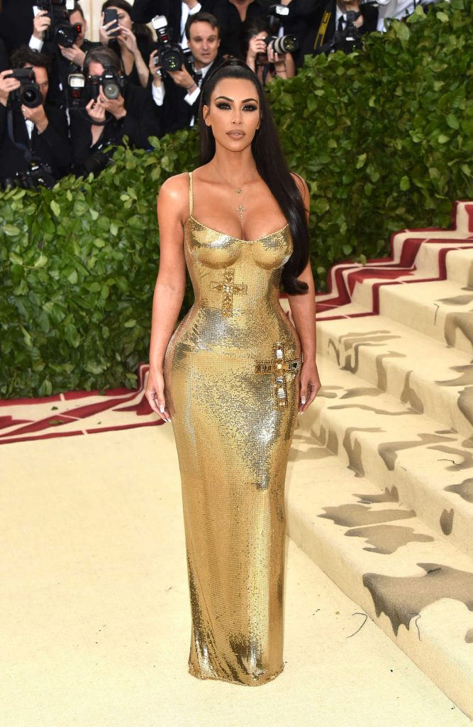 Kim Kardashian at the Heavenly Bodies: Fashion and The Catholic Imagination Costume Institute Gala in New York City 05/07/2018-1