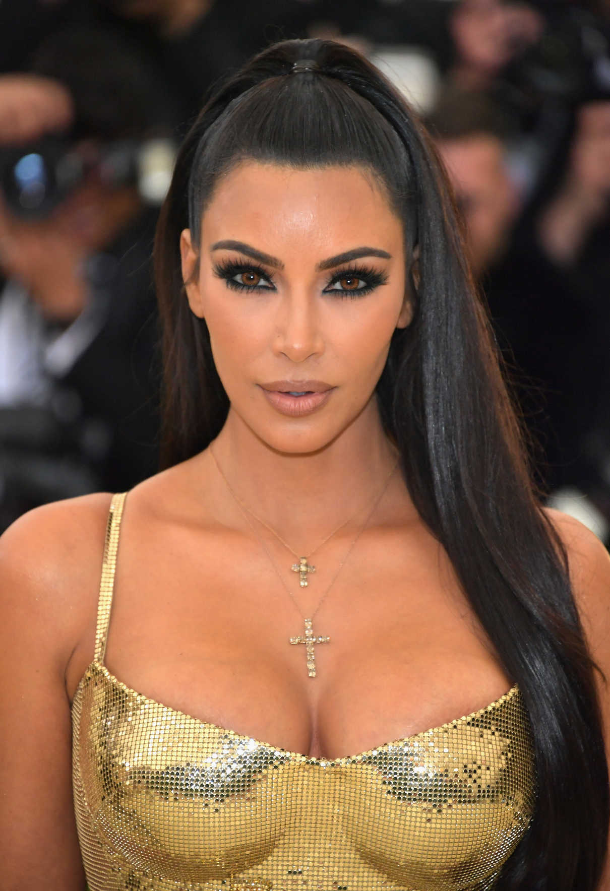 Kim Kardashian at the Heavenly Bodies: Fashion and The Catholic Imagination Costume Institute Gala in New York City 05/07/2018-5