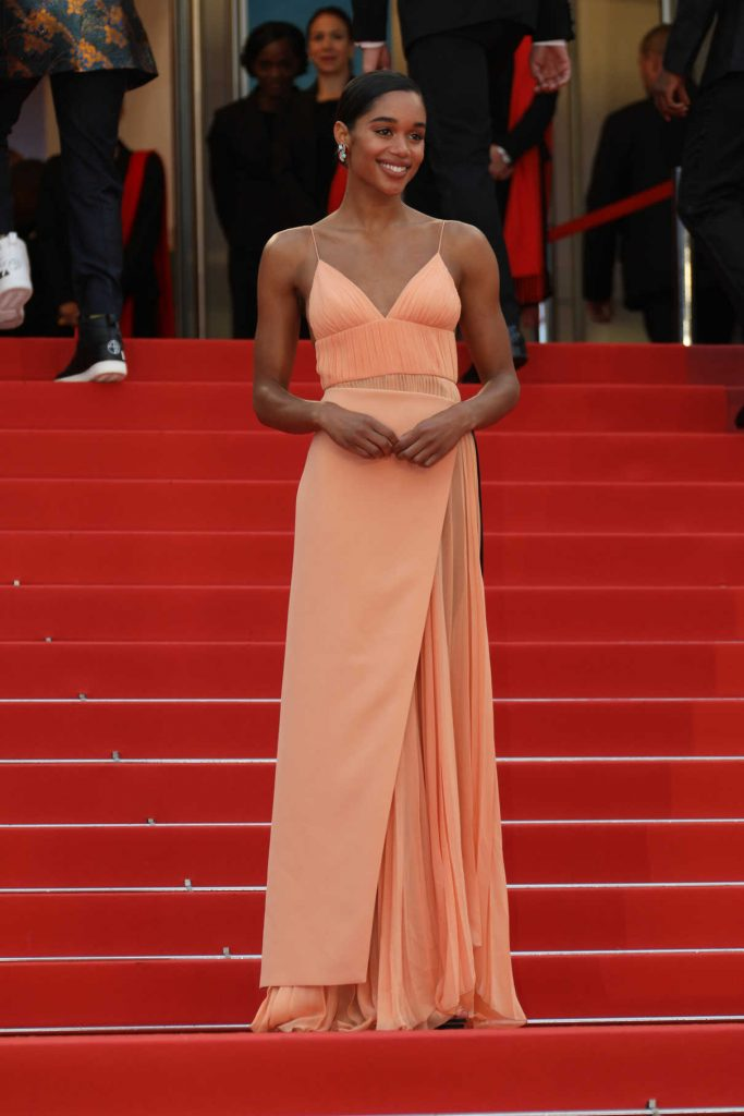 Laura Harrier at the Blackkklansman Premiere During the 71st Cannes Film Festival in Cannes 05/14/2018-1