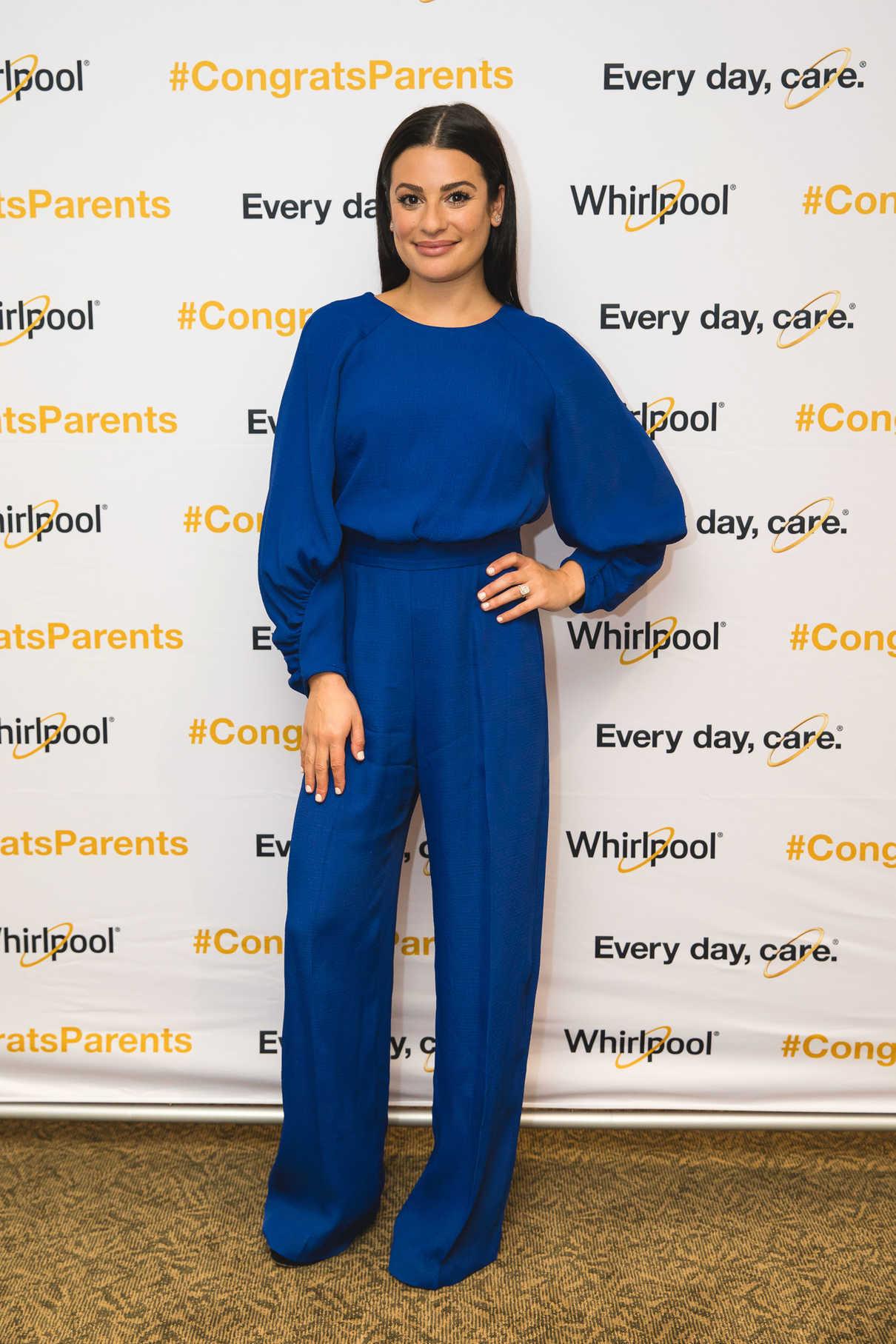 Lea Michele Gives a Dallas High School Commencement Speech in Dallas 05/25/2018-1