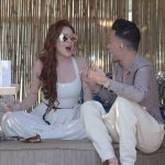 Lindsay Lohan Was Seen with Friends at a Beach Bar in Mykonos 05/26/2018-5