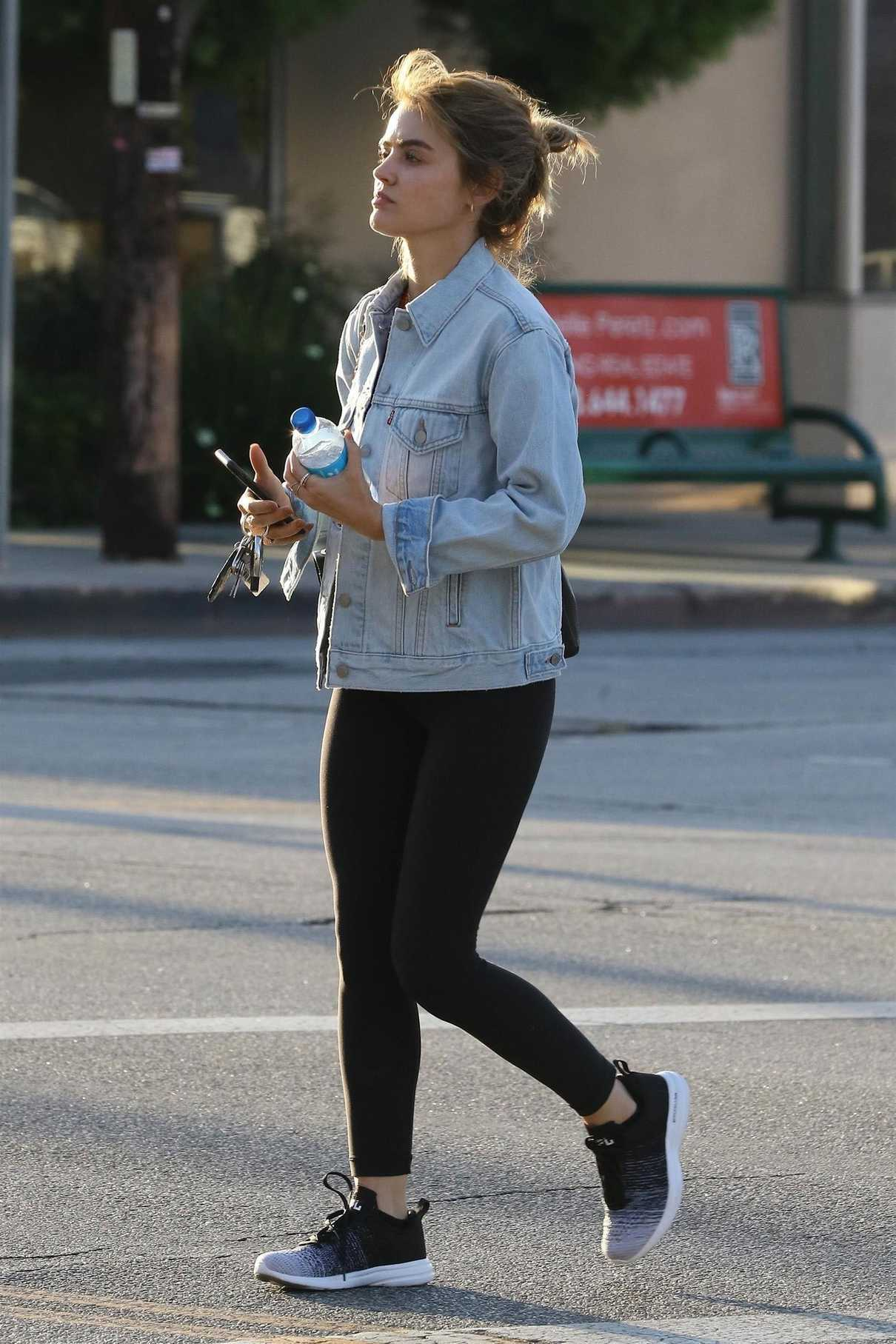 Lucy Hale Leaves the Gym in Studio City 05/14/2018-3