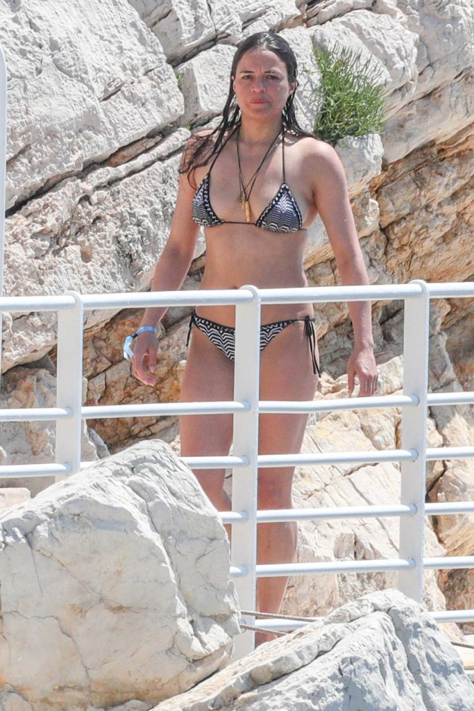 Michelle Rodriguez in Bikini by the Pool at the Hotel Du Cap-Eden-Roc in Antibes 05/17/2018-1
