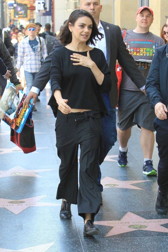 Mila Kunis Was Spotted on the Hollywood Walk of Fame in Los Angeles 05/03/2018-1