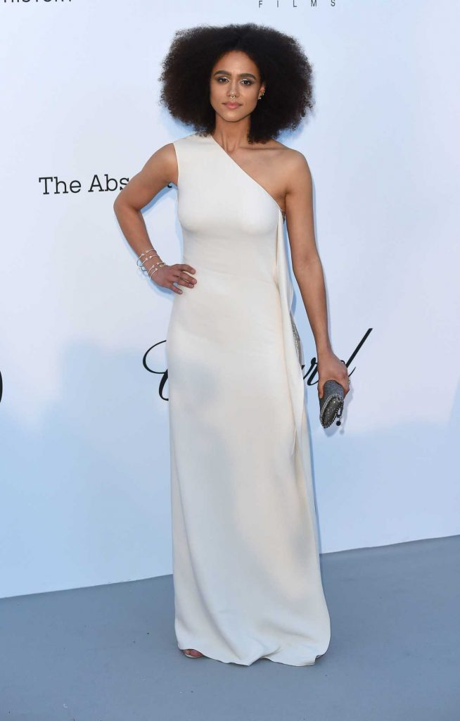 Nathalie Emmanuel at amfAR's 25th Cinema Against AIDS Gala During the 71st Cannes Film Festival in Cannes 05/17/2018-1