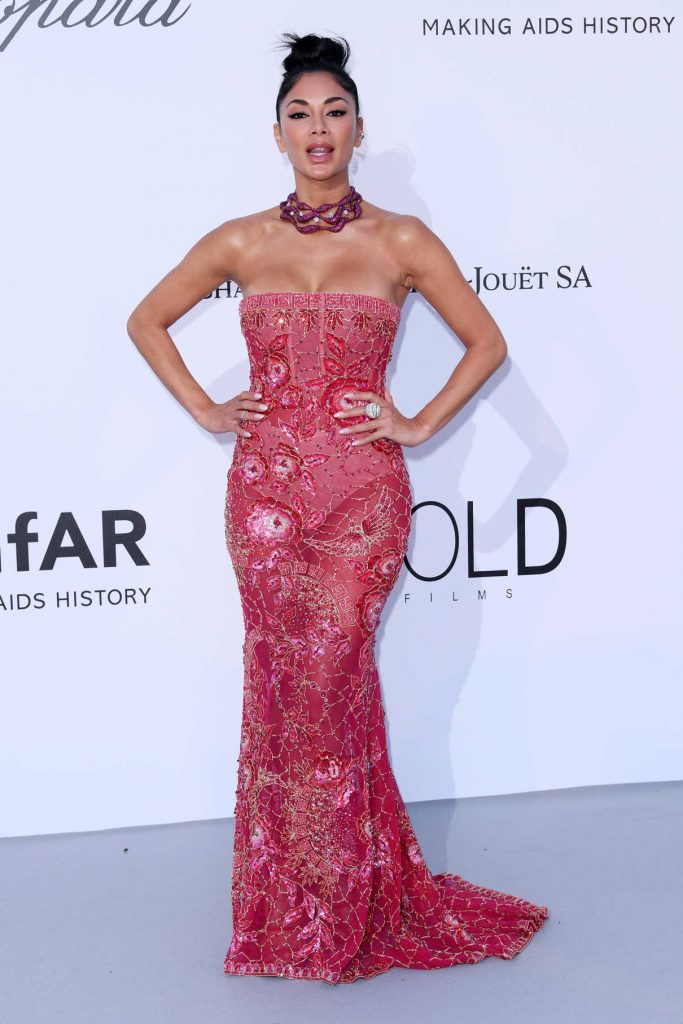 Nicole Scherzinger at amfAR's 25th Cinema Against AIDS Gala During the 71st Cannes Film Festival in Cannes 05/17/2018-1