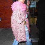 Rihanna Wears a Pink Coat as She Exits Her Hotel in New York City 05/05/2018-4