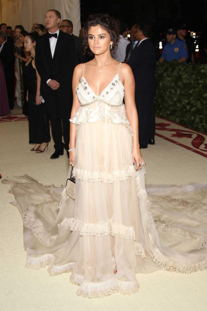 Selena Gomez at 2018 Heavenly Bodies: Fashion and The Catholic Imagination Costume Institute Gala in New York City 05/07/2018-1