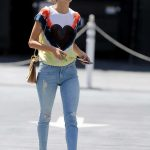 Alessandra Ambrosio Arrives at the Sugar Paper Store in Brentwood 06/12/2018-2
