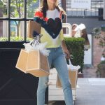 Alessandra Ambrosio Arrives at the Sugar Paper Store in Brentwood 06/12/2018-3