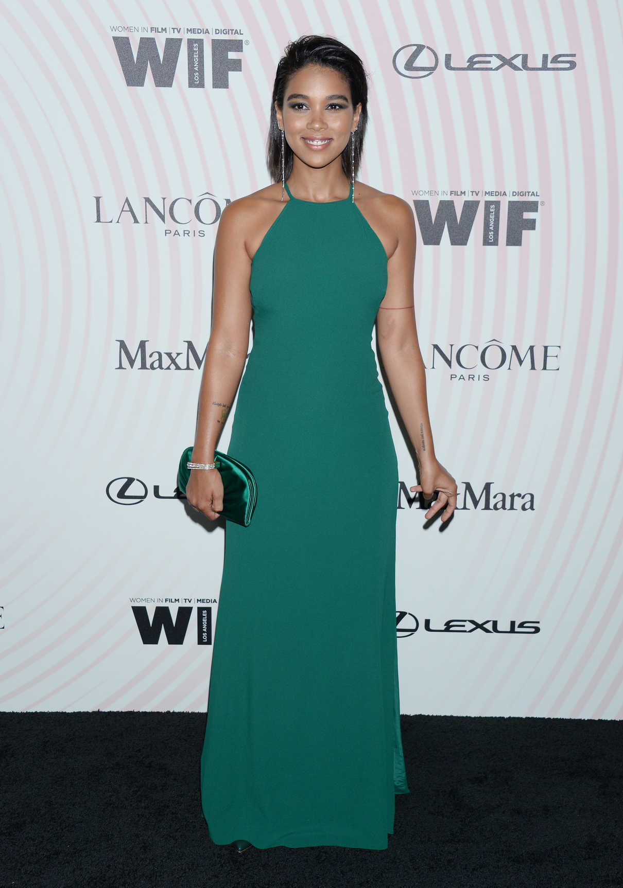 Alexandra Shipp at 2018 Women in Film Crystal and Lucy Awards in Los Angeles 06/13/2018-1