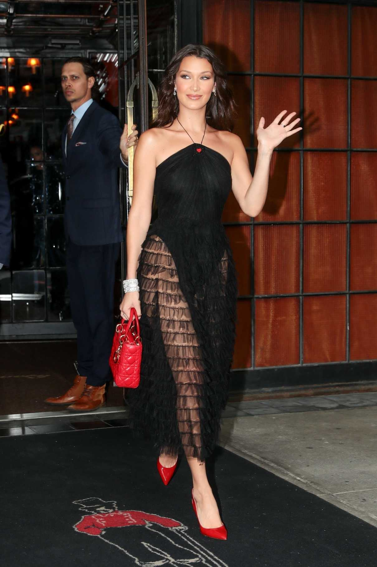 Bella Hadid Leaves the Bowery Hotel in New York City 06/07/2018-2