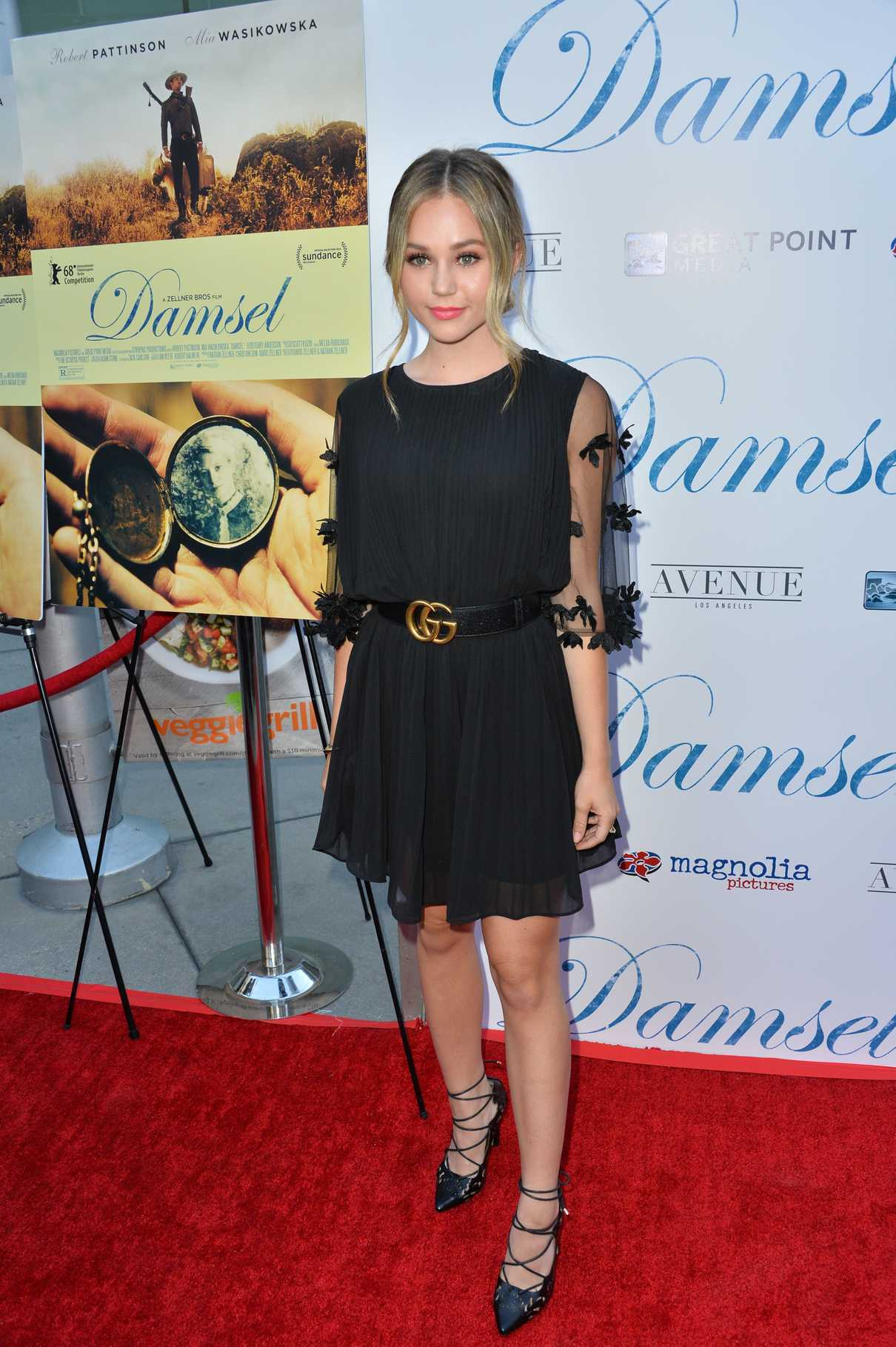 Brec Bassinger at the Damsel Premiere in Los Angeles 06/13/2018-1