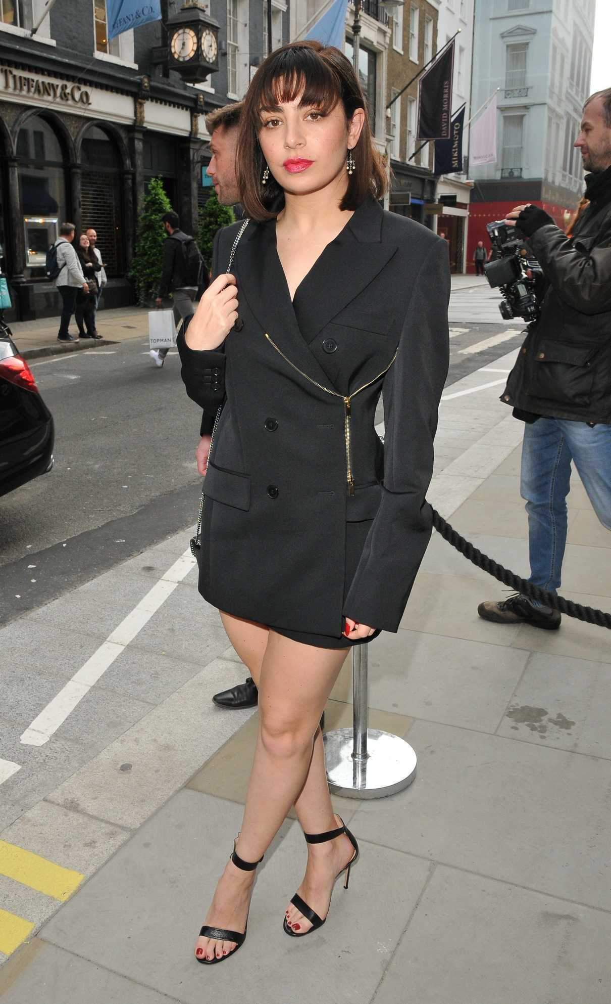 Charli XCX Arrives at Stella McCartney New Flagship Store Opening in London 06/12/2018-1