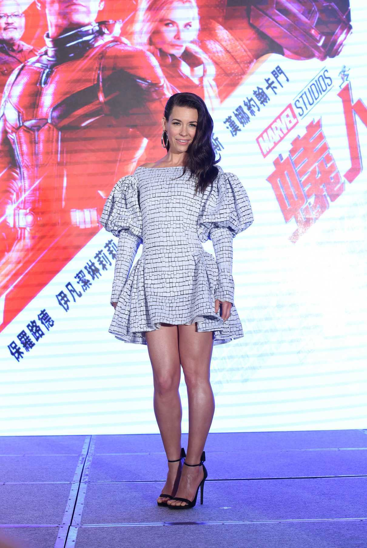 Evangeline Lilly at the Ant-Man and the Wasp Press Conference in Taipei 06/12/2018-1