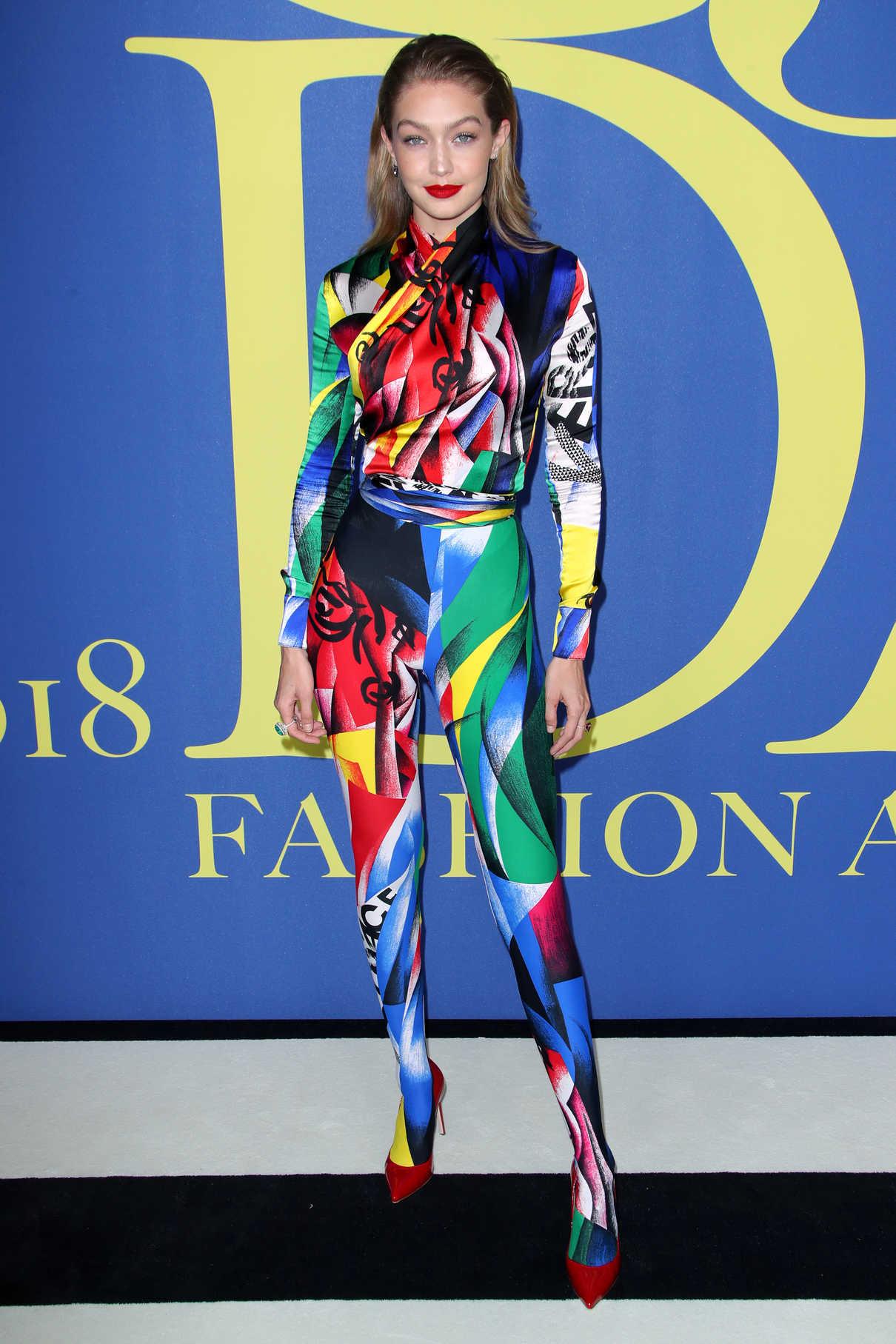 Gigi Hadid at 2018 CFDA Fashion Awards at Brooklyn Museum in New York City 06/04/2018-1